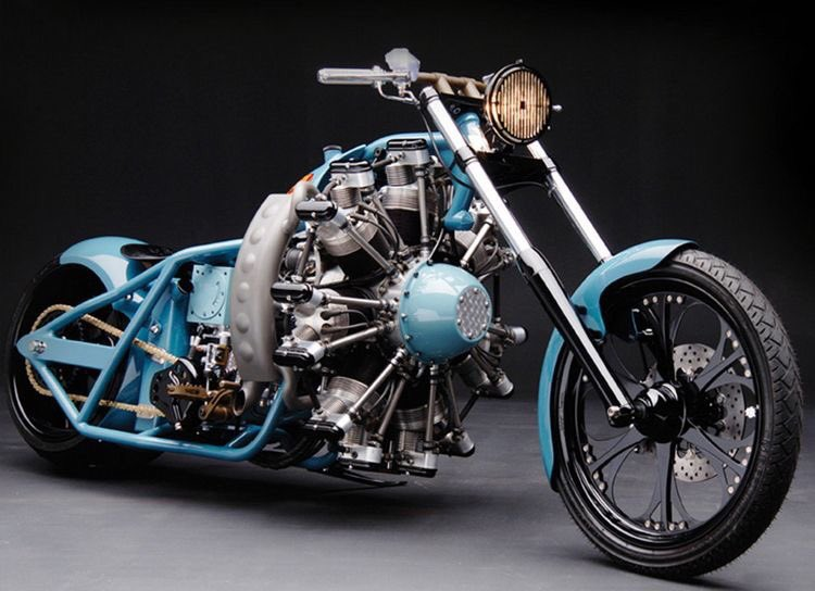 #Bike Awesome of the Day: Radial Aircraft Engine #Bobber #Motorcycle Built by Jesse James via @DIYtape #SamaBikes