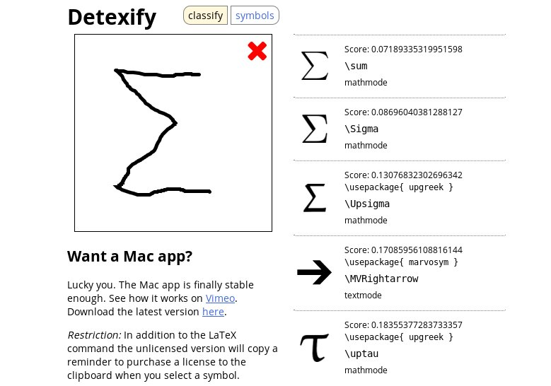 Algoritmic On Twitter Detexify Draw Math Symbols To Find The