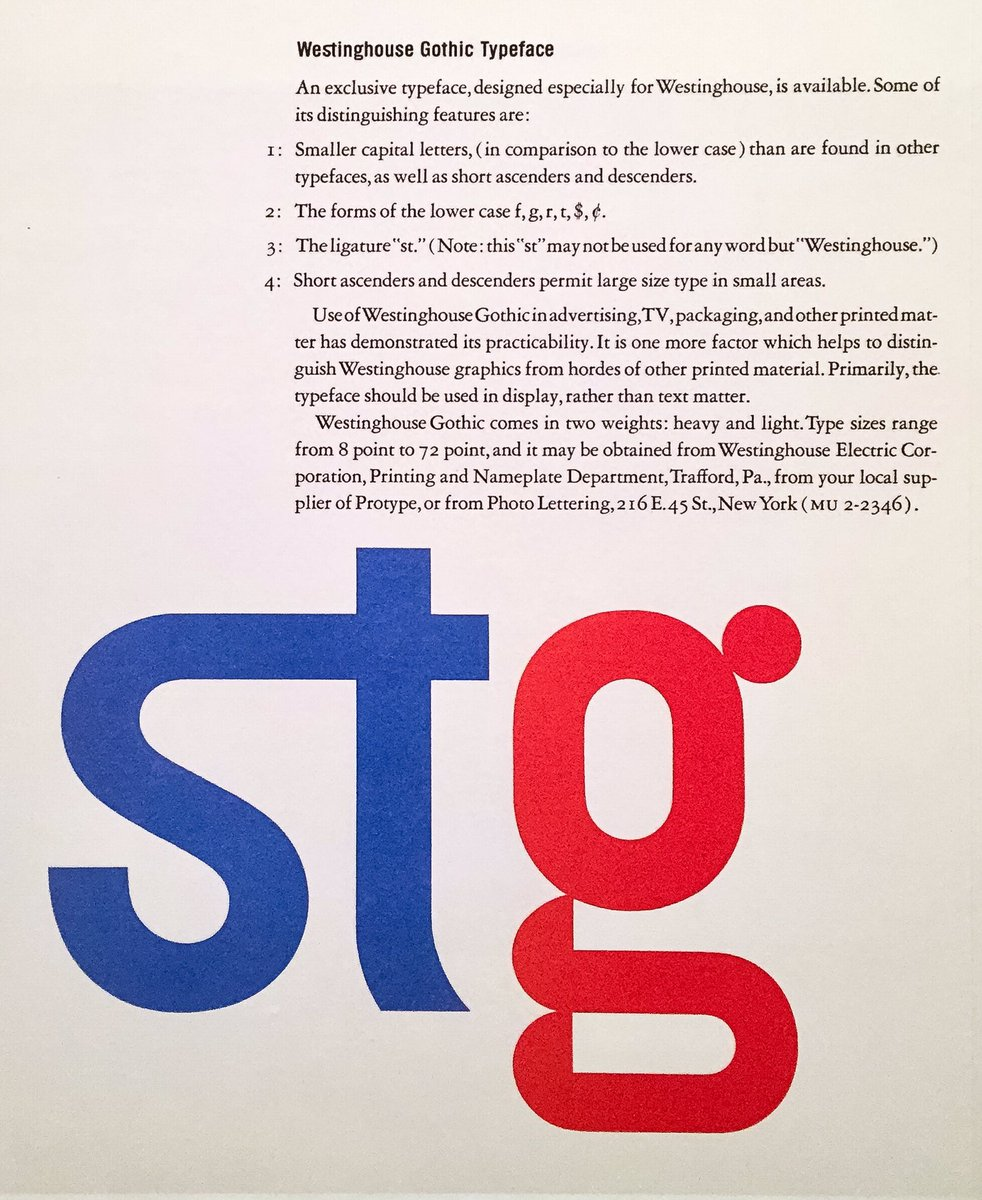 Donald Partyka On Twitter Westinghouse Gothic G From Paul Rands Identity FontSunday