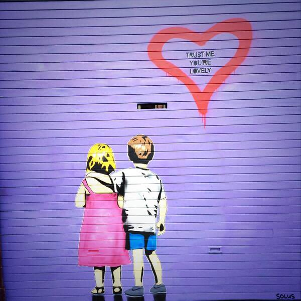 One of the sweetest #dublin #streetart pieces on #georgesstreet #thedublinjournals #youarelovely https://t.co/Zgk6mkqB5y