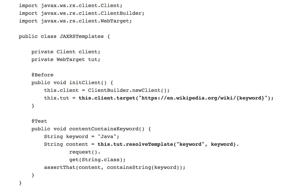 Java On Twitter Jax Rs Webtarget Comes With Template Mechanism To