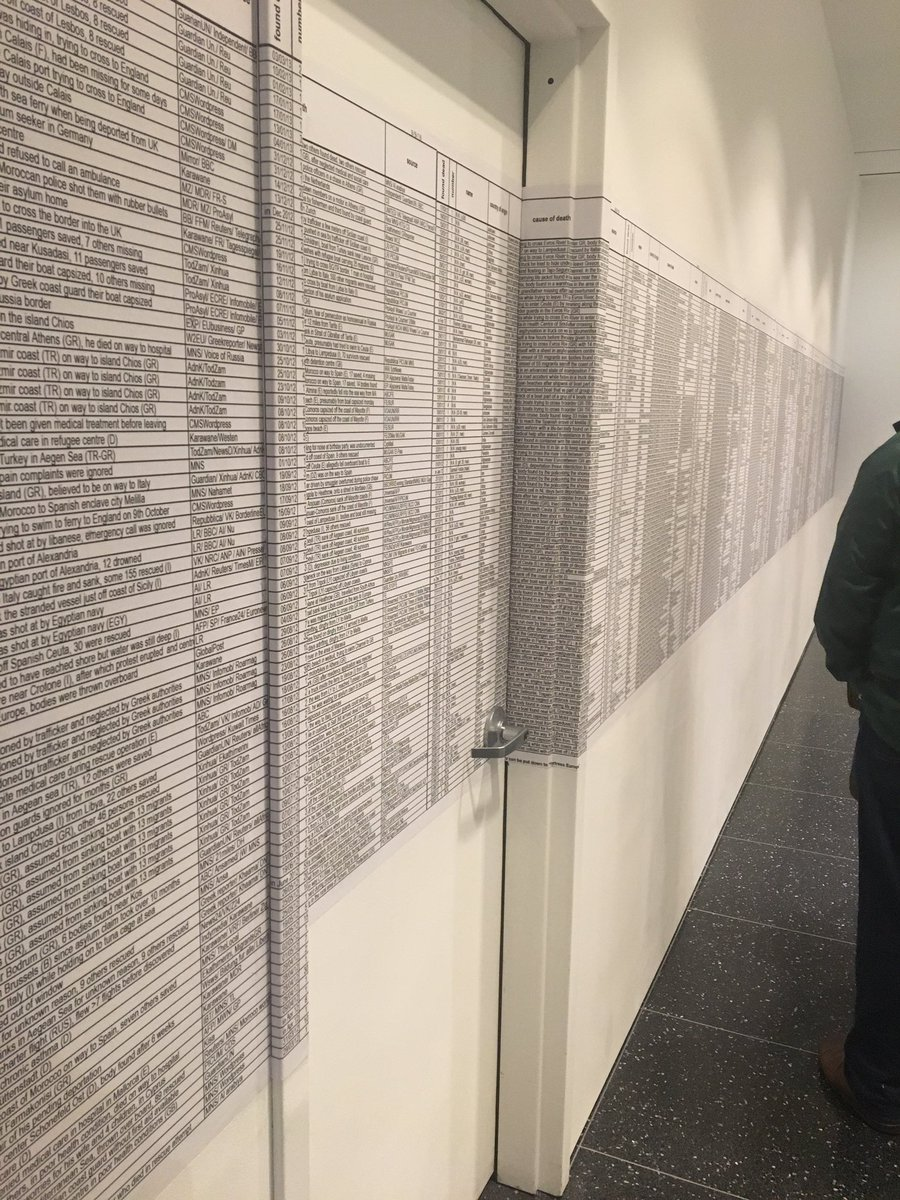 Just some of a long list of refugees who have died trying to reach safety - Tracing Insecurities at @MuseumModernArt https://t.co/z6xHs9zY2C
