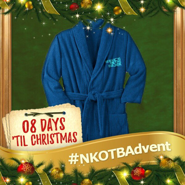 Anyone wrapped up in their NKOTB robe wrapping presents?