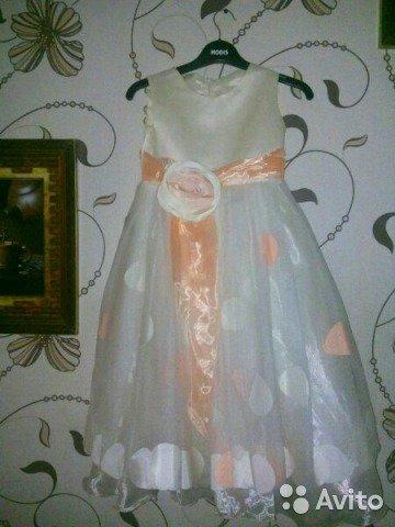 вязание крючком платье для девочки 7 лет