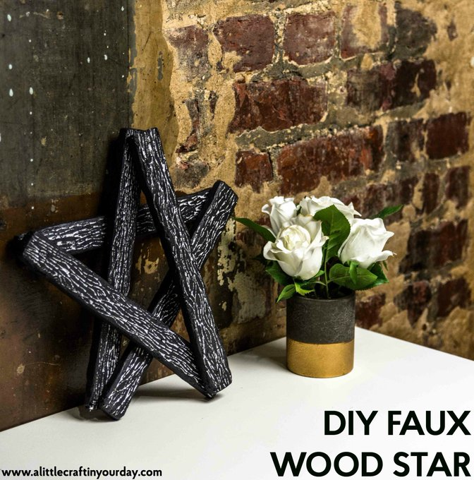 DIY Faux Wood Star