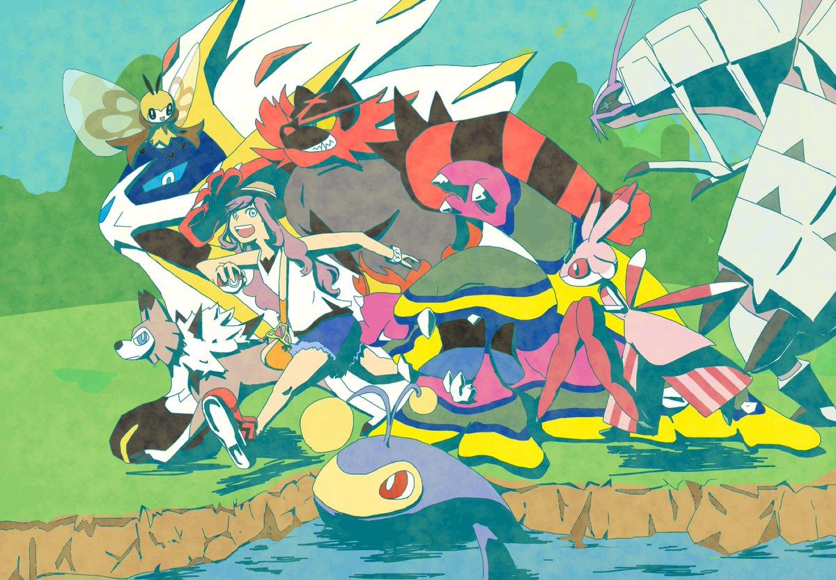 ポケモンサンクリア記念! 大好きなゲームがまた1つ増えました!o(^▽^)o 殿堂入りした時の手持ち+よく連れ回してた子達〜 https://t.co/wzIUkjOWr2