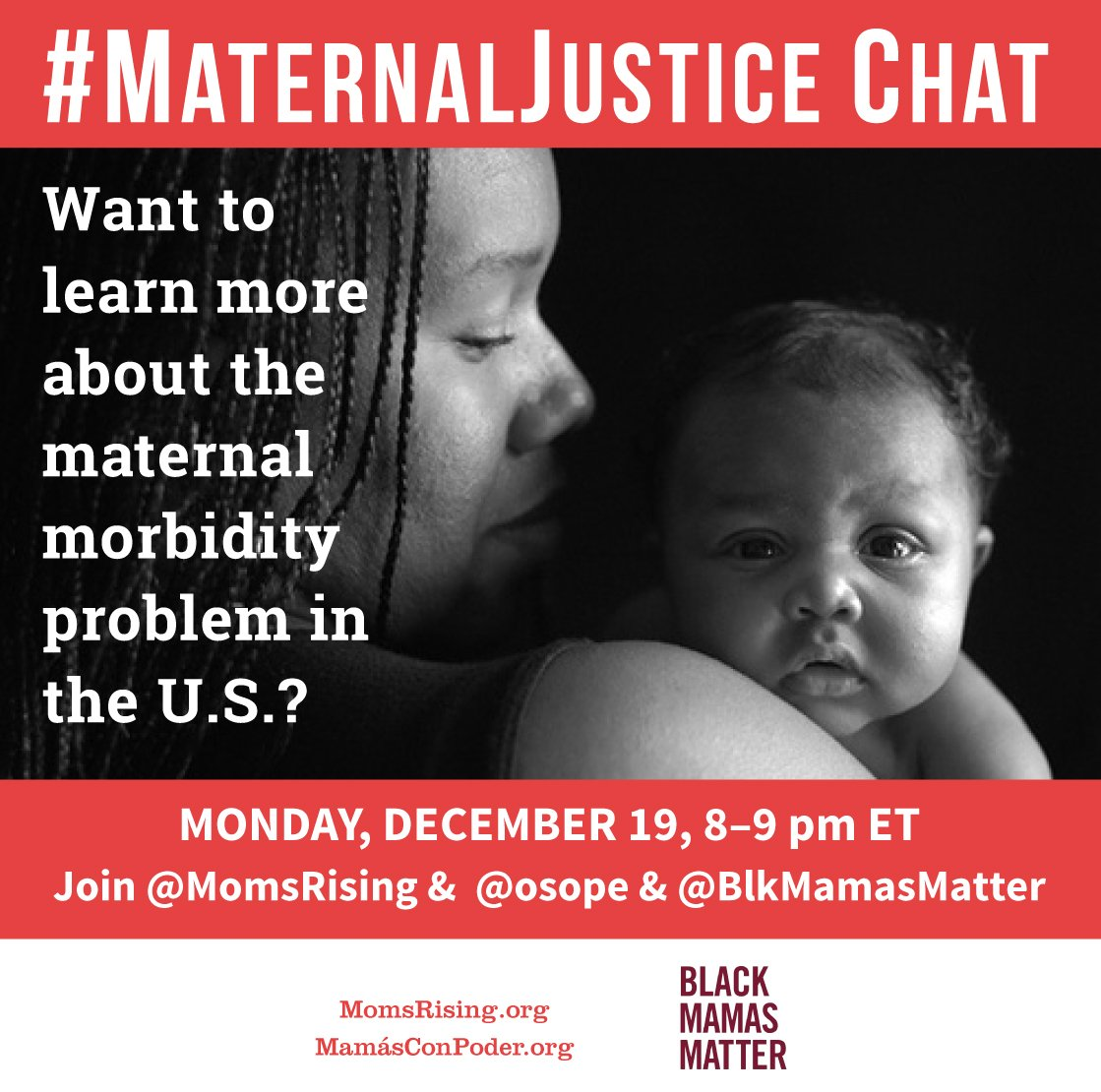 Thumbnail for #MaternalJustice Inaugural  TweetChat - Cohosted with Patrisse Cullors & Black Mamas Matter