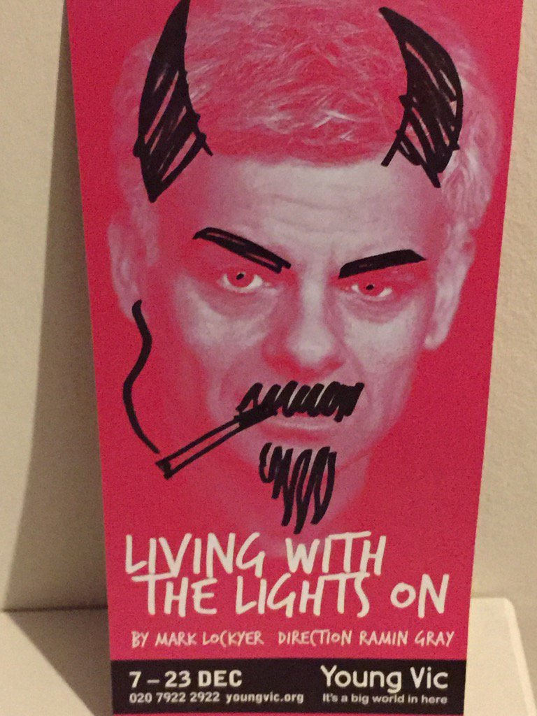 Saw this last night! Mark, you were fantastic! Don't miss it! @youngvictheatre @ATCLondon #LivingWithTheLightsOn https://t.co/J60DH25wMV