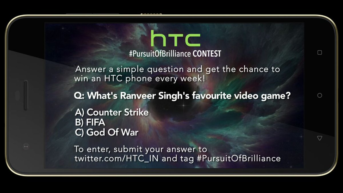 HTC #PursuitOfBrilliance contest is live now. @MissMalini @Vh1India #Vh1InsideAccess #HTCDesire10Pro https://t.co/AsRPXicOfE