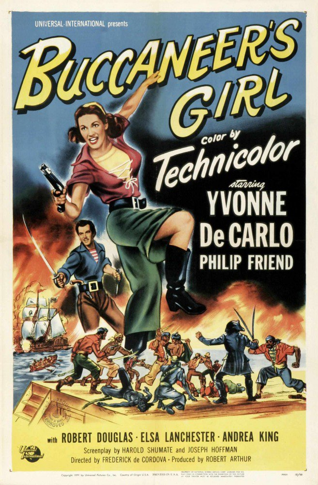 Дочь пирата (1950) http://aktinos.com/17301-dotsh-pirata-1950.html…  #Ивонн_Де_Карло #Филип_Френд #Роберт_Дуглас