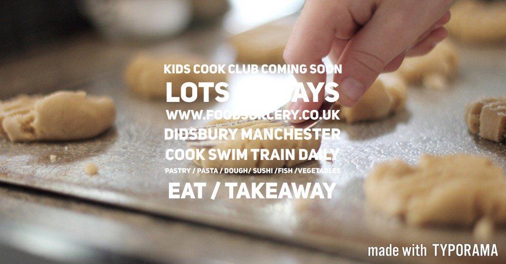 Kids cook club #didsbury @FoodSorcery #swim#cook#train#smile https://t.co/KUTcVRgwAP