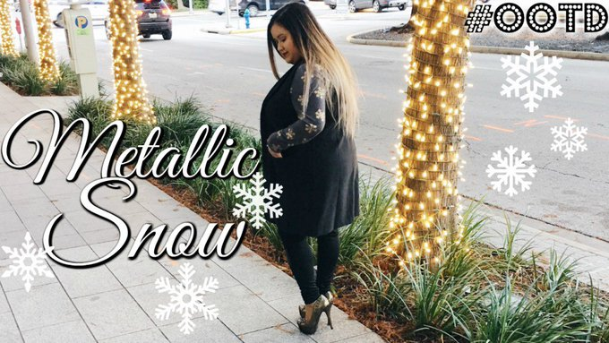 #OOTD: Metallic Snow