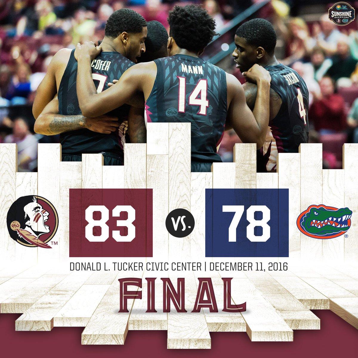 FINAL! #Noles beat the Gators! https://t.co/zoCzW8ZJi4