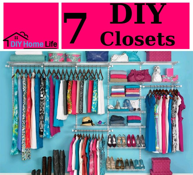 7 Low Cost DIY Closets For Clothes Storage