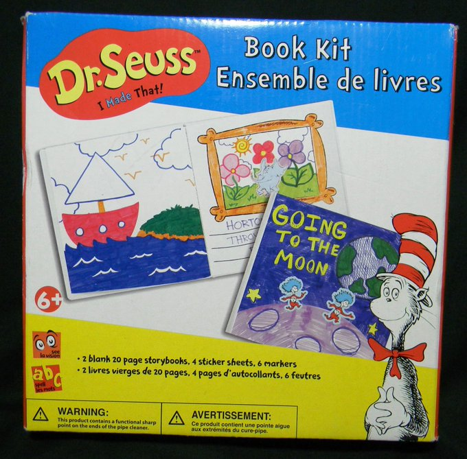"Dr. Seuss ""I Made That"" book kit ages 6 & up opened but never used"