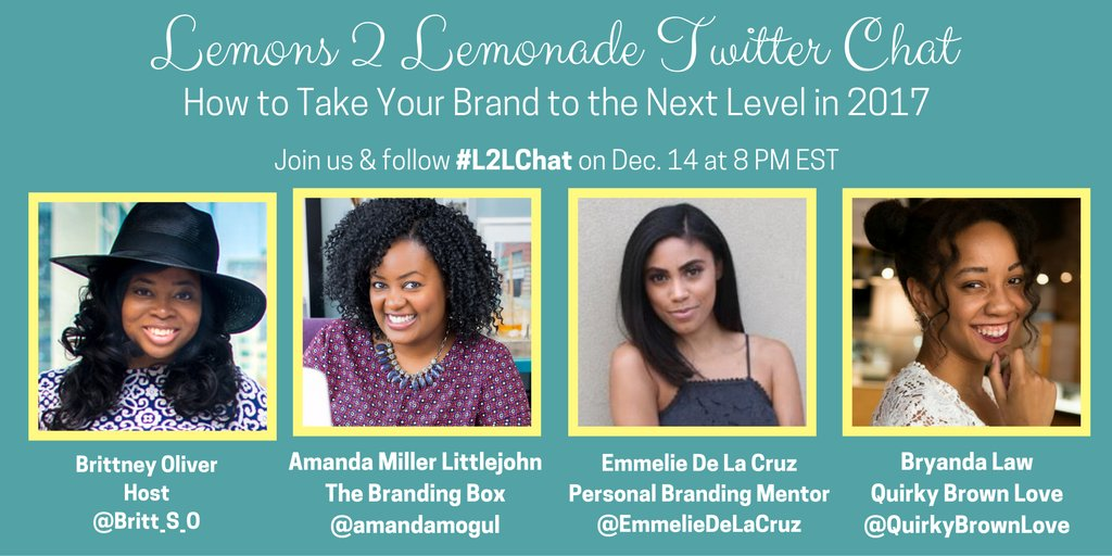 TONIGHT: Join  @amandamogul, @EmmelieDeLaCruz & @QuirkyBrownLove for the #L2LChat at 8 p.m. EST https://t.co/fBPIllpkqu