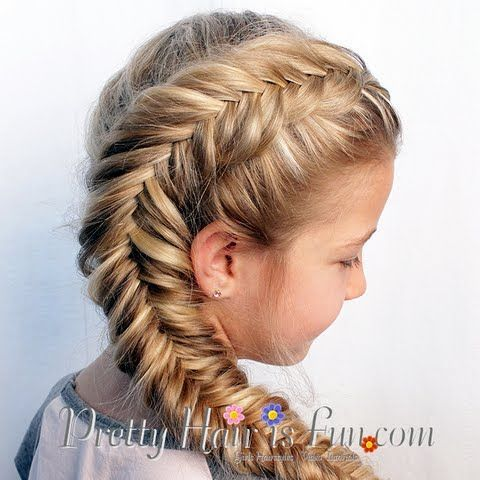 Side Dutch Fishtail Braid by #prettyhairisfun #