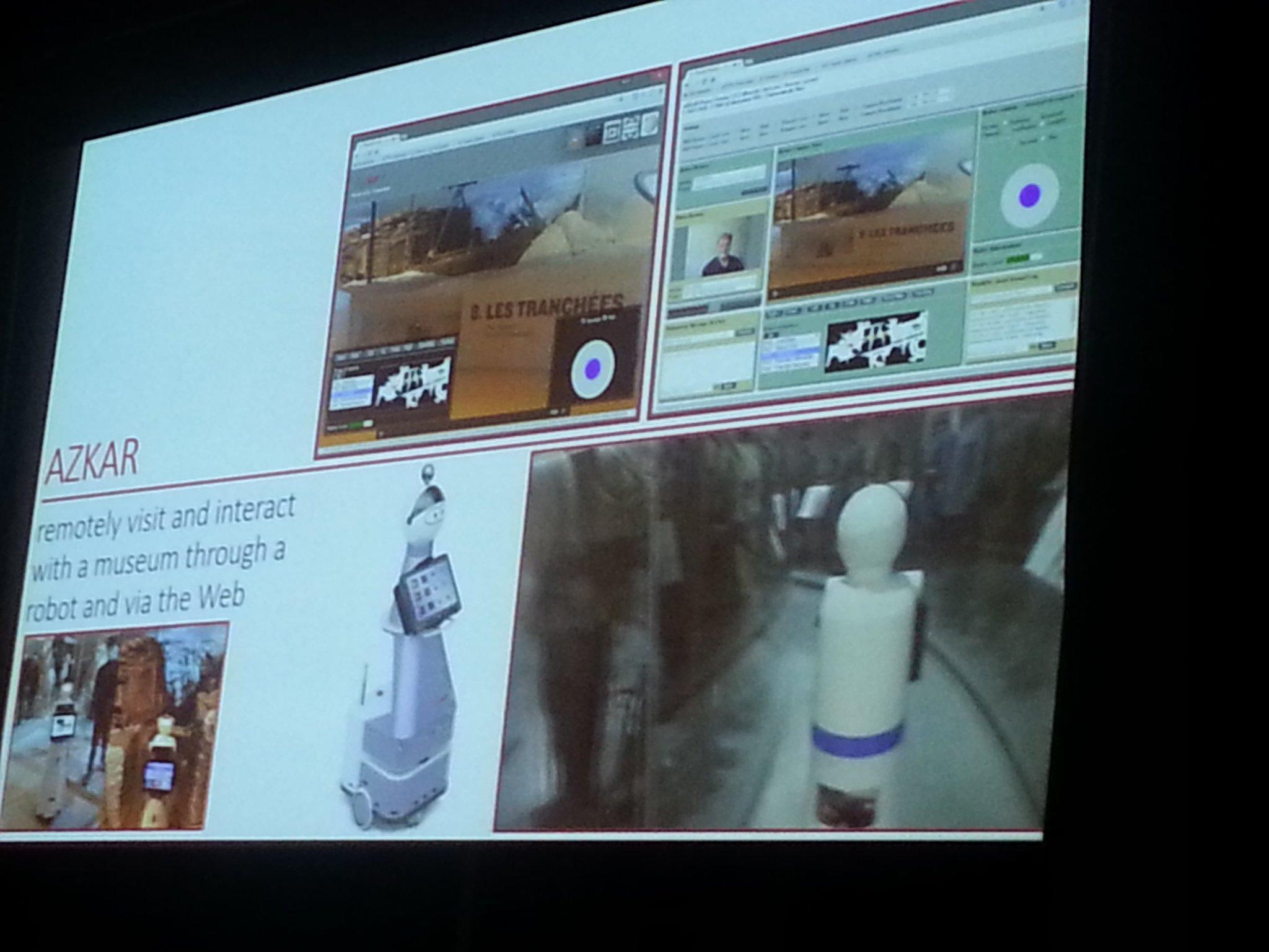 Projet Azjar avec le Musée de la Grande Guerre à Meaux et @Inria  : visiter un Musée à distance avec un robot #WebSemMCC https://t.co/vrDAwLvtgS
