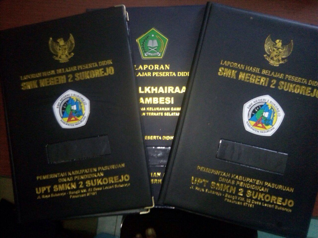 Map Ijazah Embos - Sampul raport