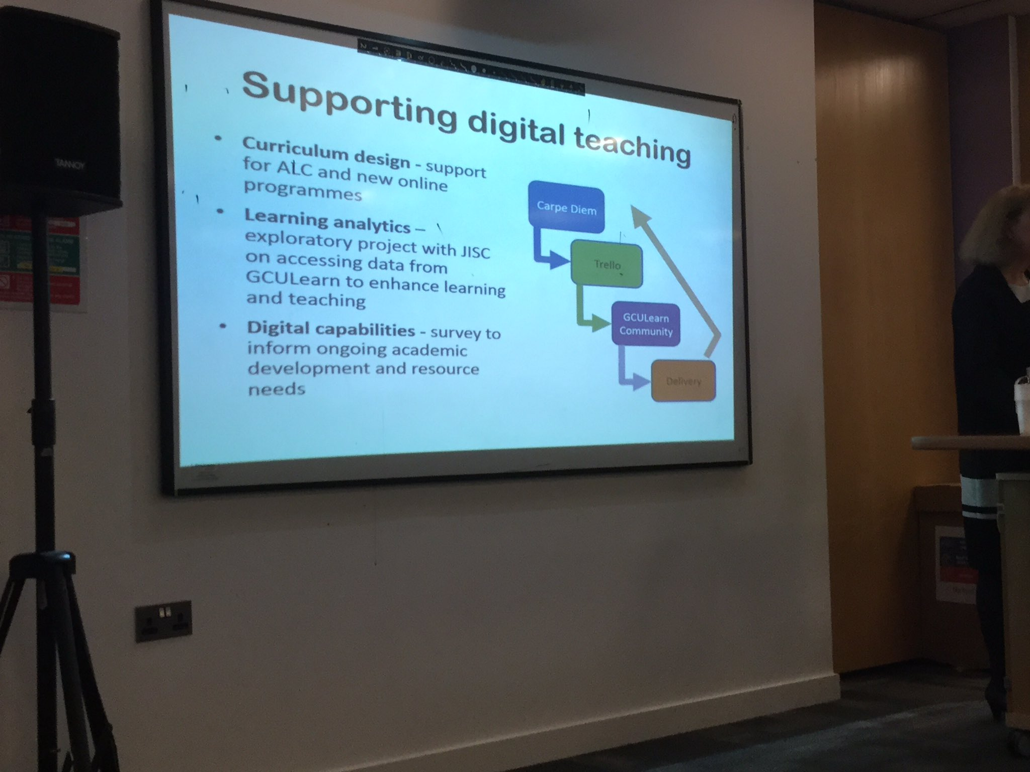 some of the ways digital learning and teaching is being support across the university #LTGCU https://t.co/B65q5FikSA
