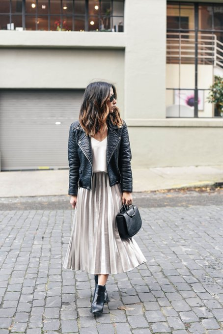Holiday Dressing: Pleated Midi Skirt 2 Ways