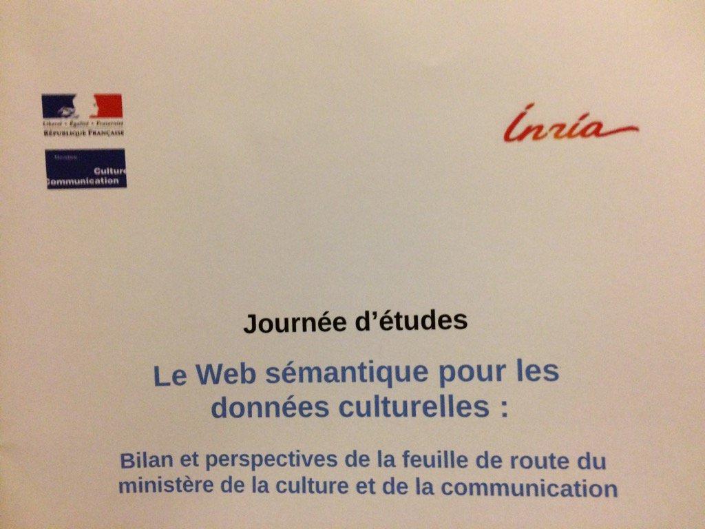 Ce 12/12, @Inria signe une nouvelle convention de partenariat avec le Ministère de la Culture. #WebSemMCC https://t.co/suqnuX4E9g