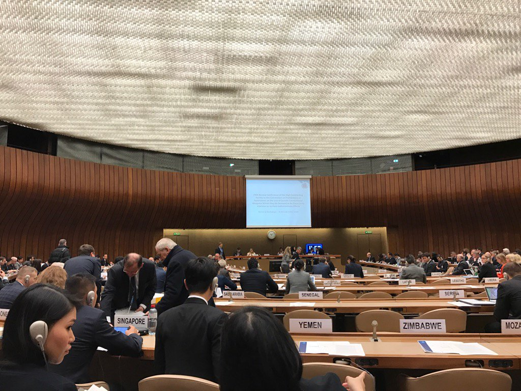 Here we go folks #CCW UN review conference has started https://t.co/8DdGh3azqD