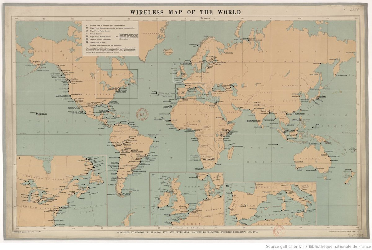 The European Library On Twitter The First Transatlantic Wireless - Wireless signal map