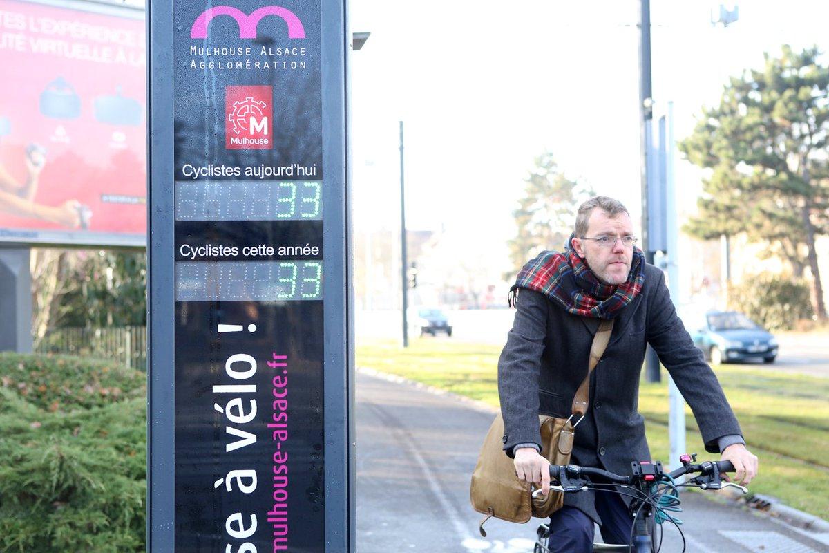 """Résultat de recherche d'images pour """"compteur vélo mulhouse"""""""