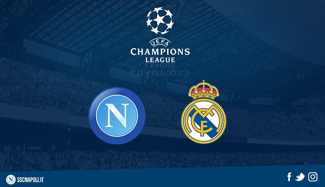 #UCLdraw: giocheremo contro il Real Madrid! #ForzaNapoliSempre @ChampionsLeague
