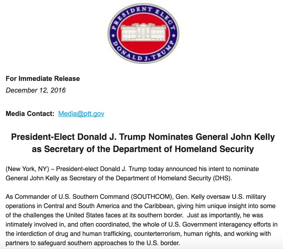 @realDonaldTrump picks a border hawk to head Homeland Security ... just out... and finally announced. https://t.co/Sb0kJasPe4