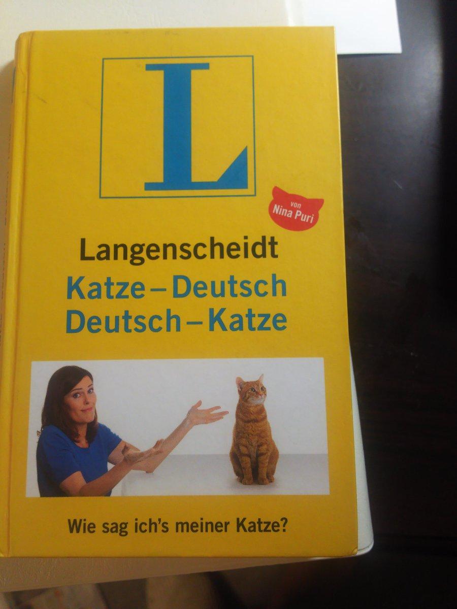 知りあいのドイツ人が、贈ってくれた「ドイツ語猫語辞典」