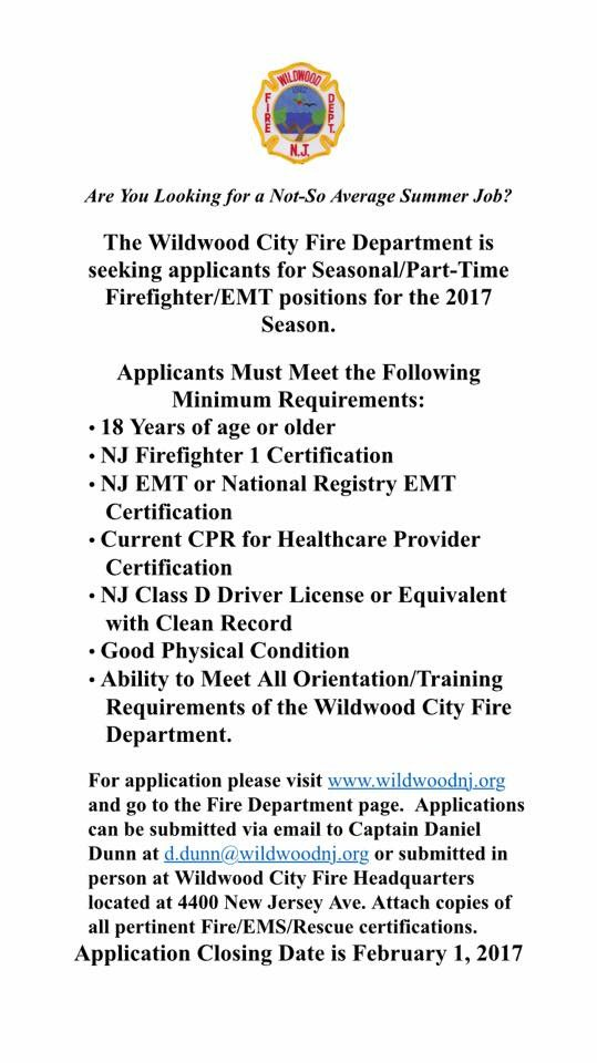 Ken Lavelle Md On Twitter Wildwood Nj Seasonal Ffemt Positions