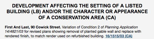 It seems that developer of First & Last in #EXEStThomas wants to remove condition requiring sedum wall https://t.co/EBUAWr21mD