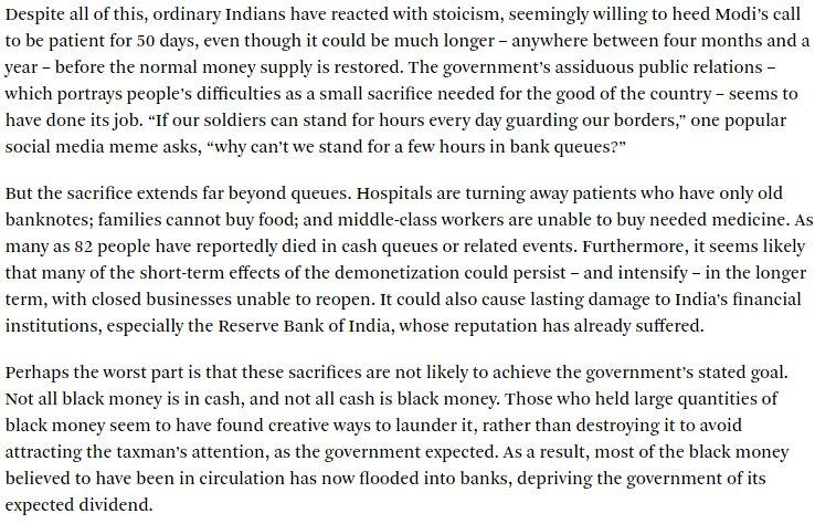 Thumbnail for El desastre de la desmonetización en India