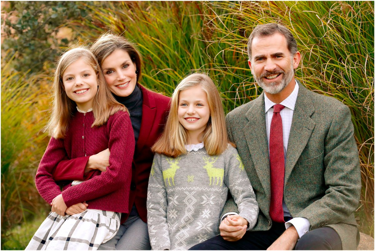 Король Испании Филипп IV и королева Испании Летисия с детьми