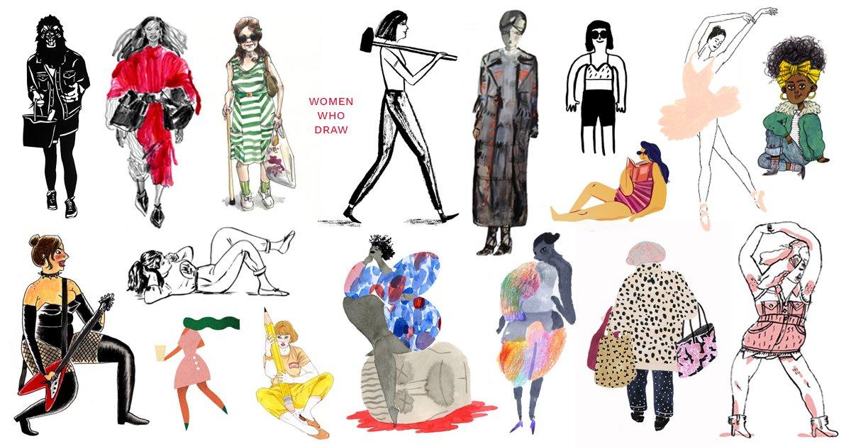 Women Who Draw, an open directory of women* illustrators, just launched.  https://t.co/nkQC9xYkI5 https://t.co/8ws5YNHMO3