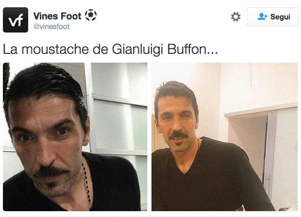 "#ComeCalcioTiVesti ""moustache edition""  (via @vinesfoot) #Buffon @DavMon76<br>http://pic.twitter.com/zWLS9MEBgI"