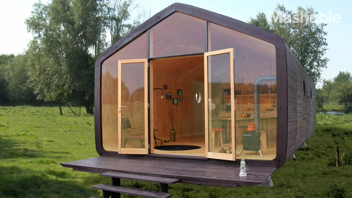 This house is made out of cardboard but can last a 100 years