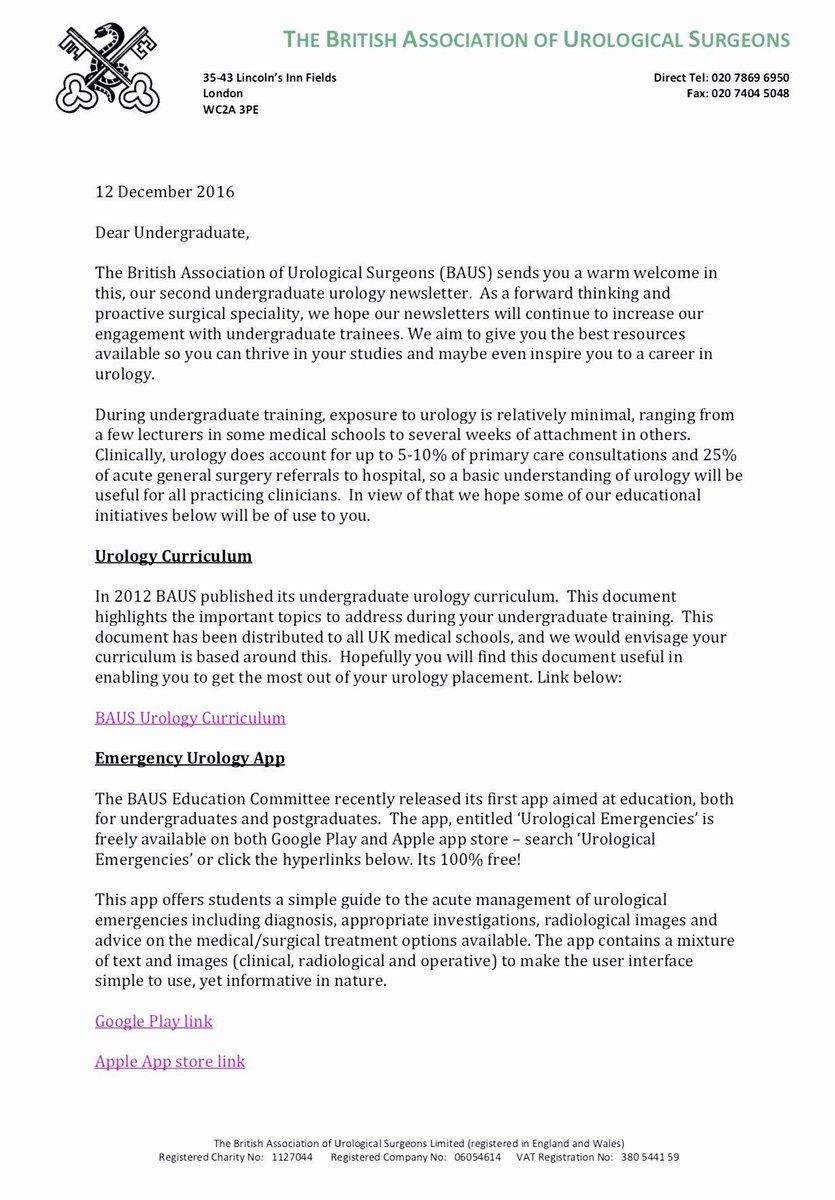 british association of urological surgeons medical student essay competition , resident essay competition 1996 american urological association annual meeting baylor college of medicine medical student curriculum module.