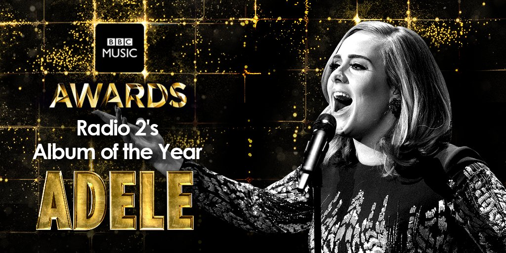 And the winner of the @BBCRadio2 Album of the Year Award is.... @adele obviously! 🙌 #BBCMusicAwards