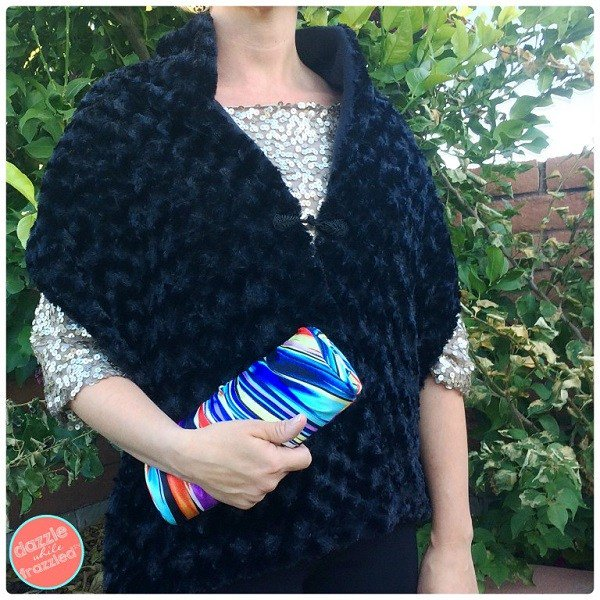 Tutorial: Faux fur wrap with fleece lining