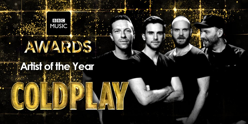 Aaaand the BBC Music British Artist of the Year goes to...  @Coldplay! 👏  #BBCMusicAwards