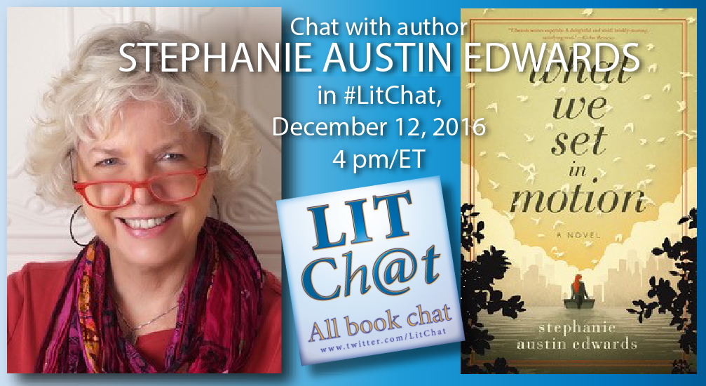 Welcome to #LitChat with Stephanie Austin Edwards @saedwardsauthor! Join us for the next hour. https://t.co/xFKsKmyPwl