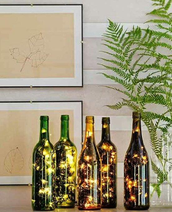 12 Ideas para reciclar botellas de vino en navidad