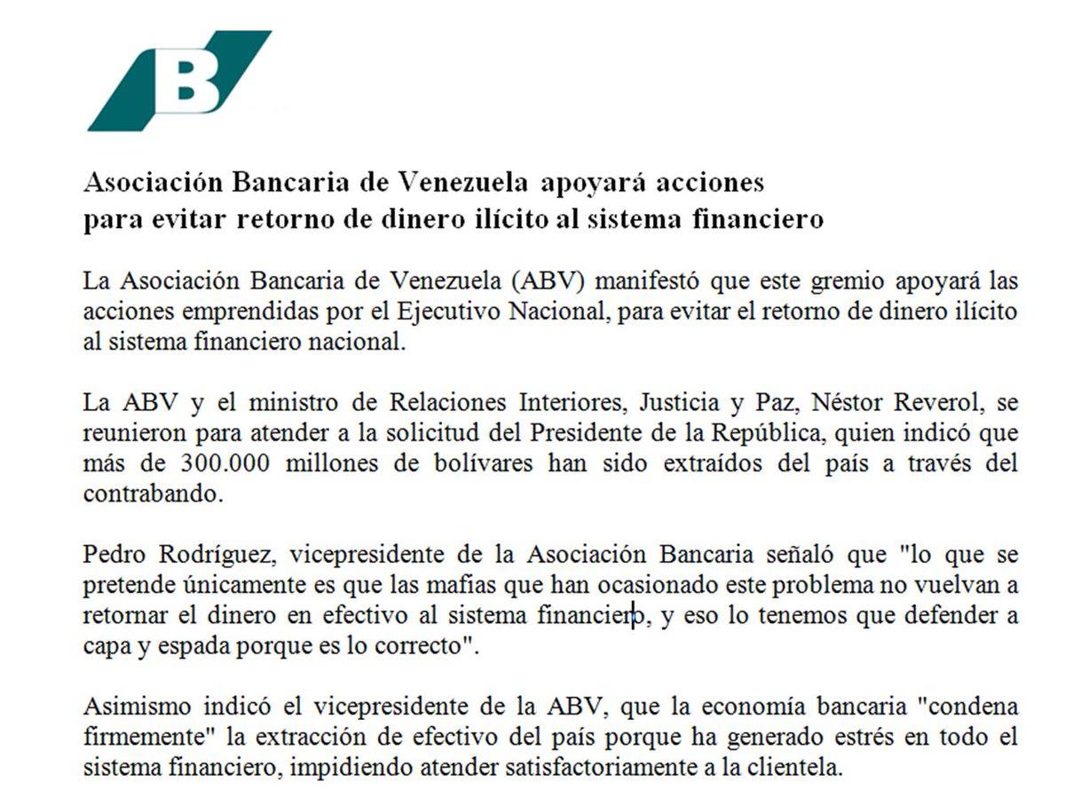 ABV apoyará acciones  para evitar retorno de dinero ilícito al sistema financiero https://t.co/eJtUvQwvCD https://t.co/IATgQEYrq5