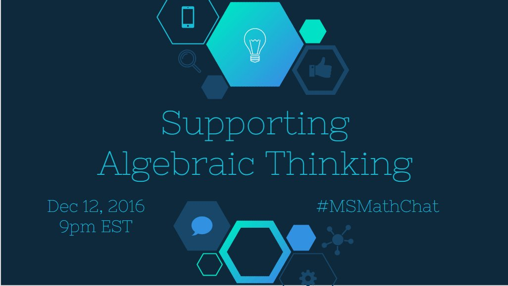 Welcome Everyone! Tell us who you are, your role, and your favourite holiday treat. #MSMathChat https://t.co/lURXfg8WJW