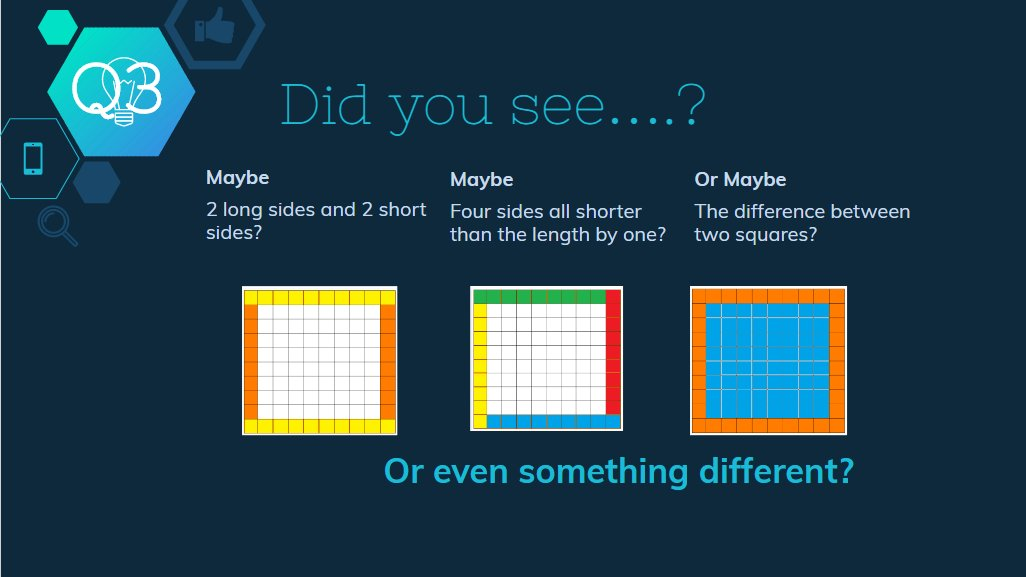 Q3 How did,, or could, you see the 36 tiles? #msmathchat https://t.co/4FIS0cmYQ1