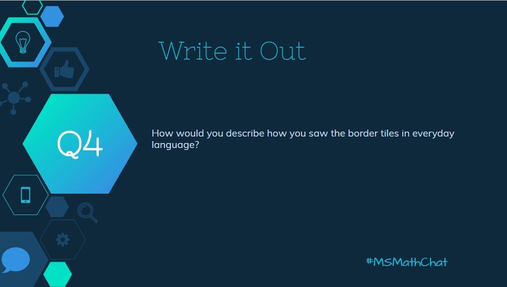Q4 How would you write out in every day language, what you saw? #msmathchat https://t.co/EvRZPF6zaY