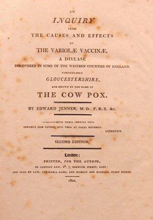 Publicación de Edward Jenner sobre sus experimentos con la #vacuna de la #viruela #22ángeles https://t.co/qKoVVtbLAJ